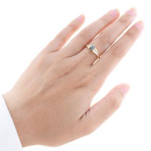 Anel em Ouro 14K com Diamantes Brancos Carrê e Brilhantes Az