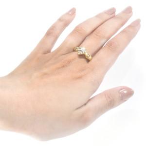 Anel Coração em Ouro Amarelo com Diamantes