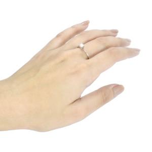 Anel Solitário de Diamante em Ouro Branco