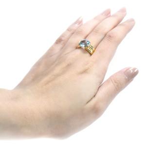 Anel H. Stern em Ouro Amarelo com Topázio Azul