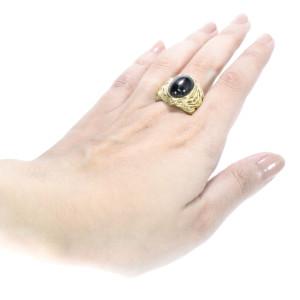 Anel Tereza Xavier em Ouro Amarelo com Ónix.