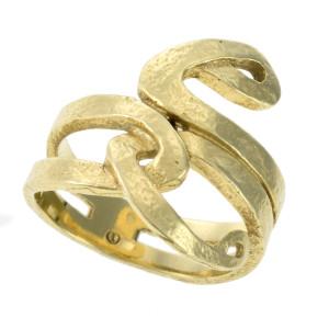 Anel H. Stern Cobra em Ouro Amarelo.