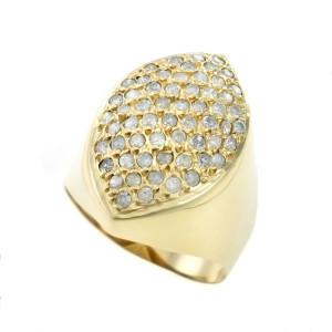 Anel em Ouro Amarelo 720K com Diamantes